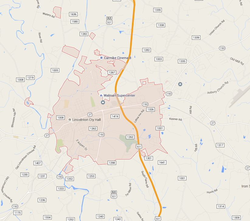 Google Map Request: Lincolnton, NC - Official Website