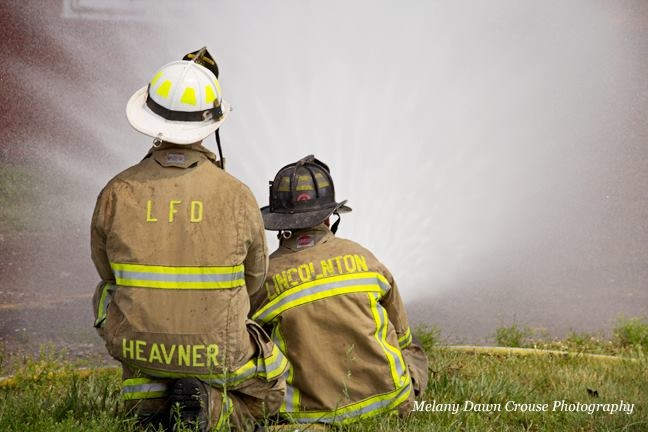 Chief Heavner and Firefighter Jenkins