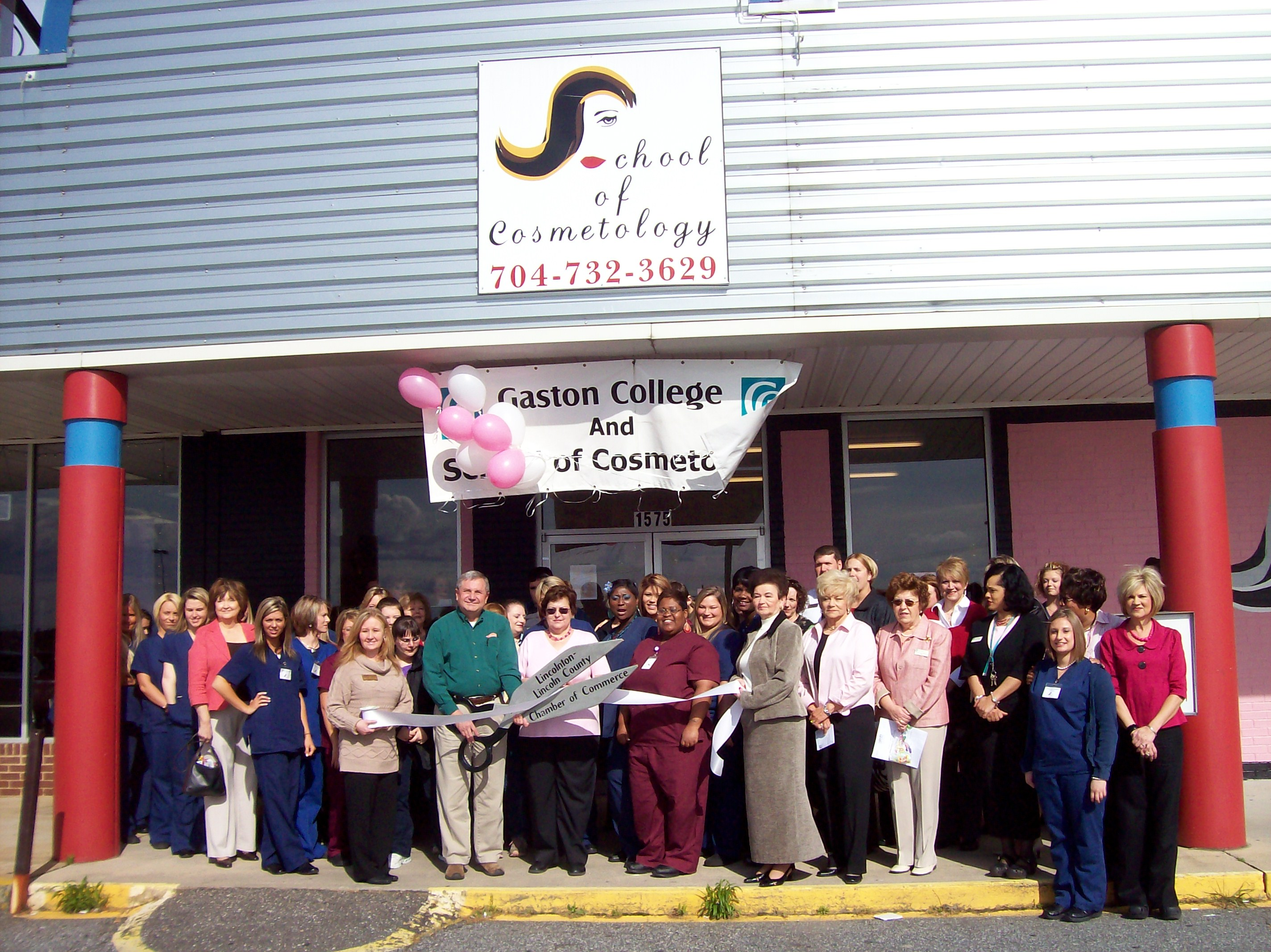 Ribbon cutting at the School of Cosmetology