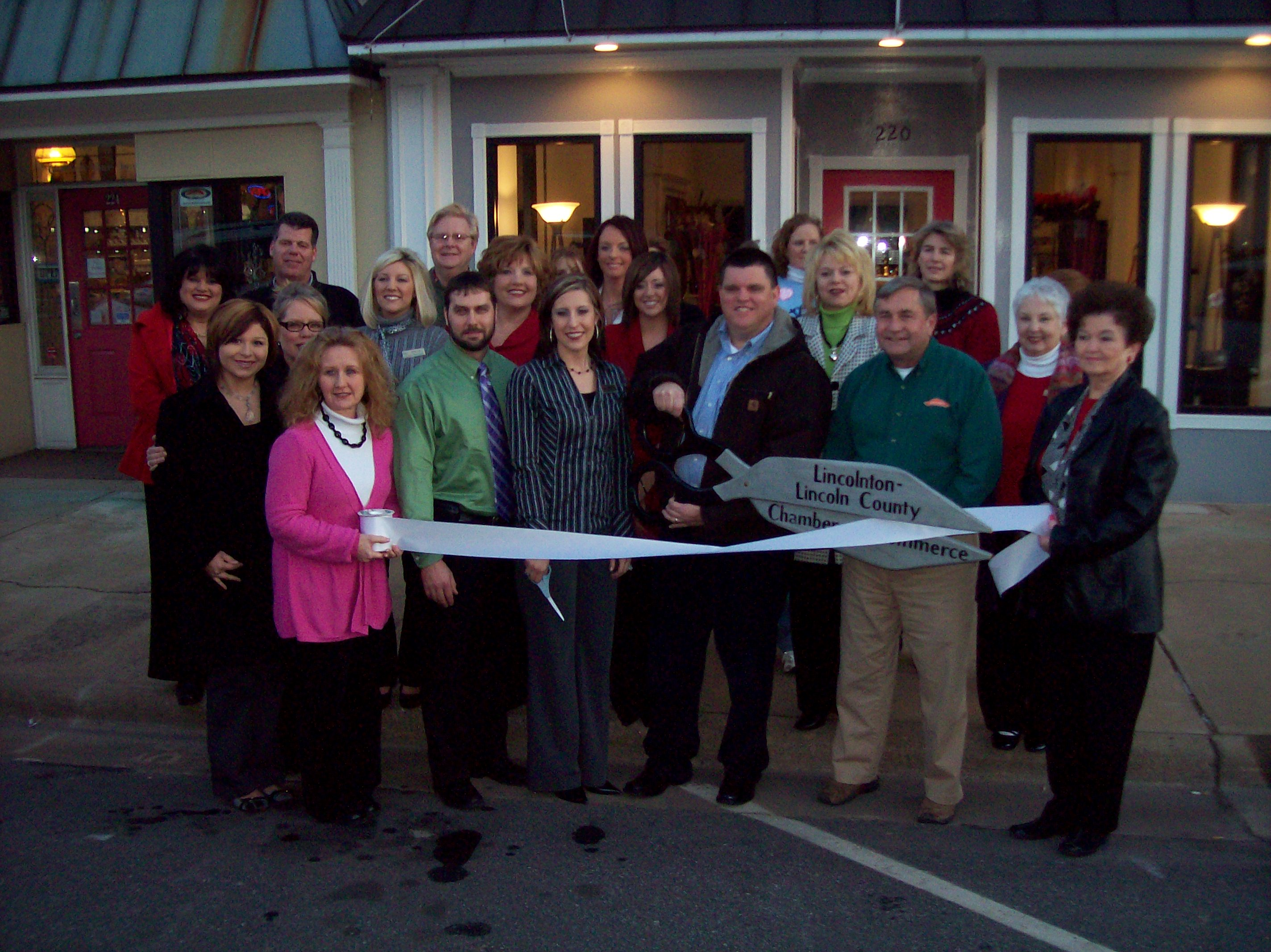 Ribbon cutting gathering