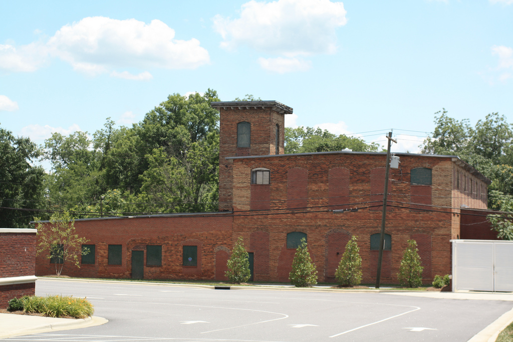 Sideview of old brick warehouse