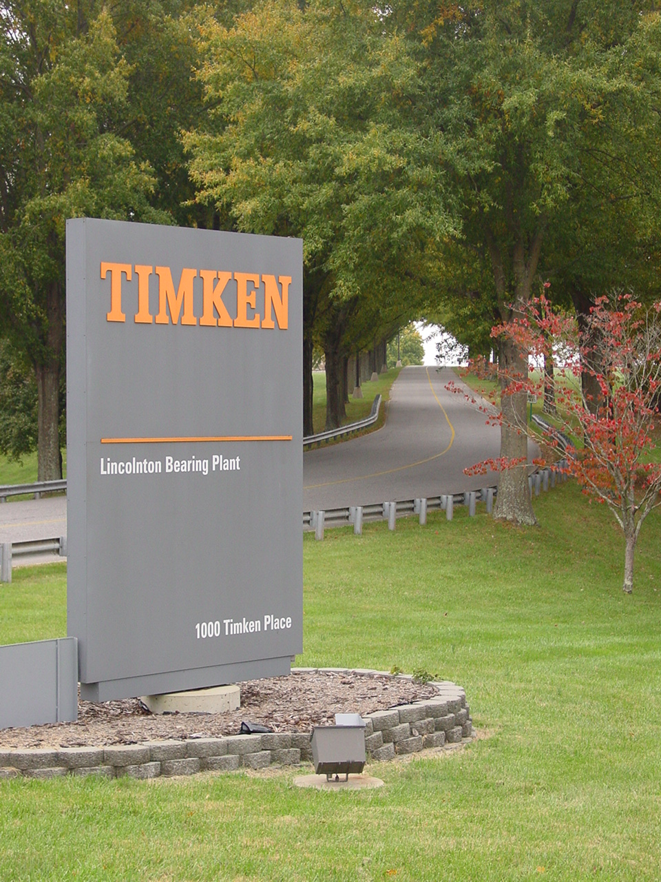 Timken Bearing Plant sign
