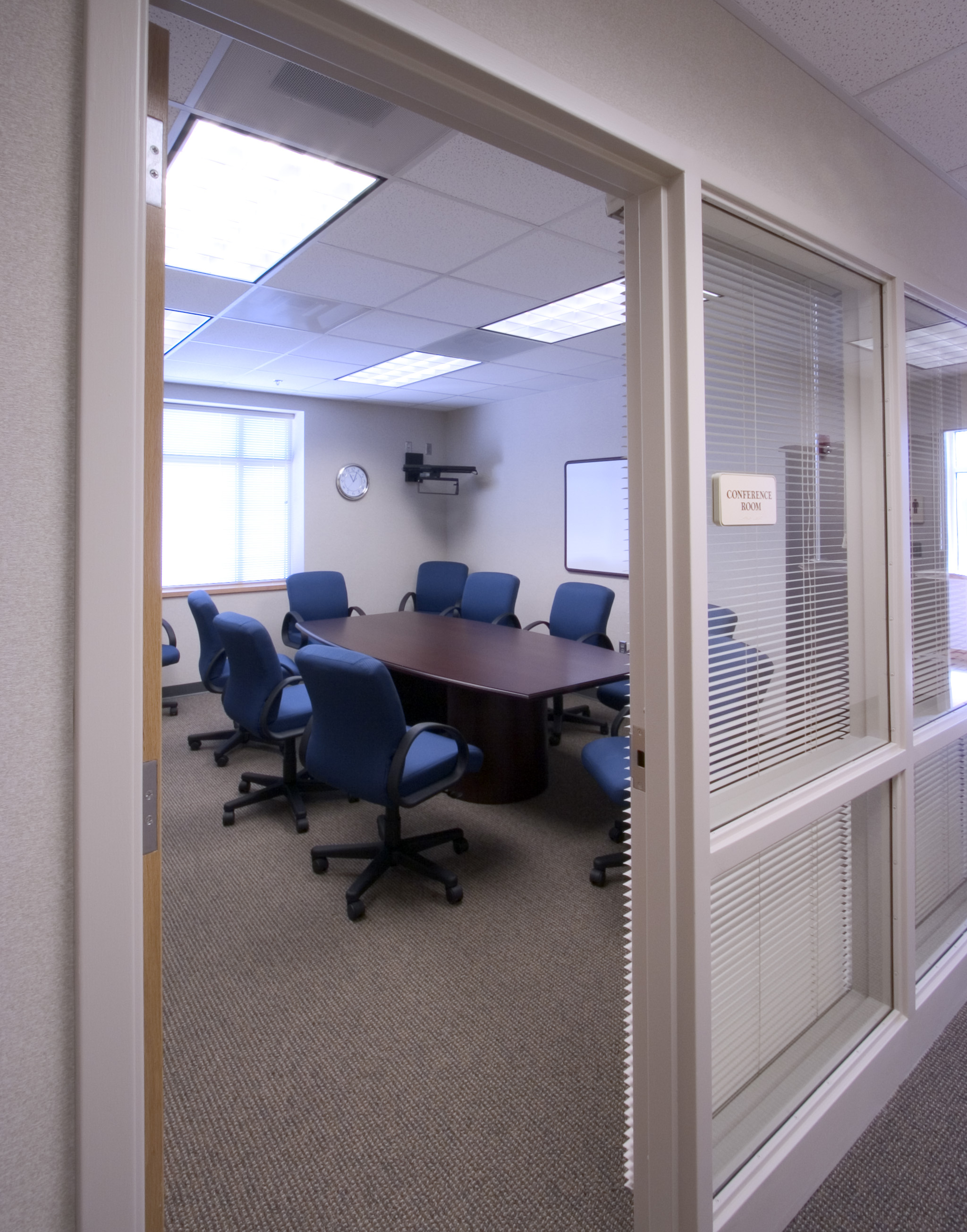Inside of of office with conference table