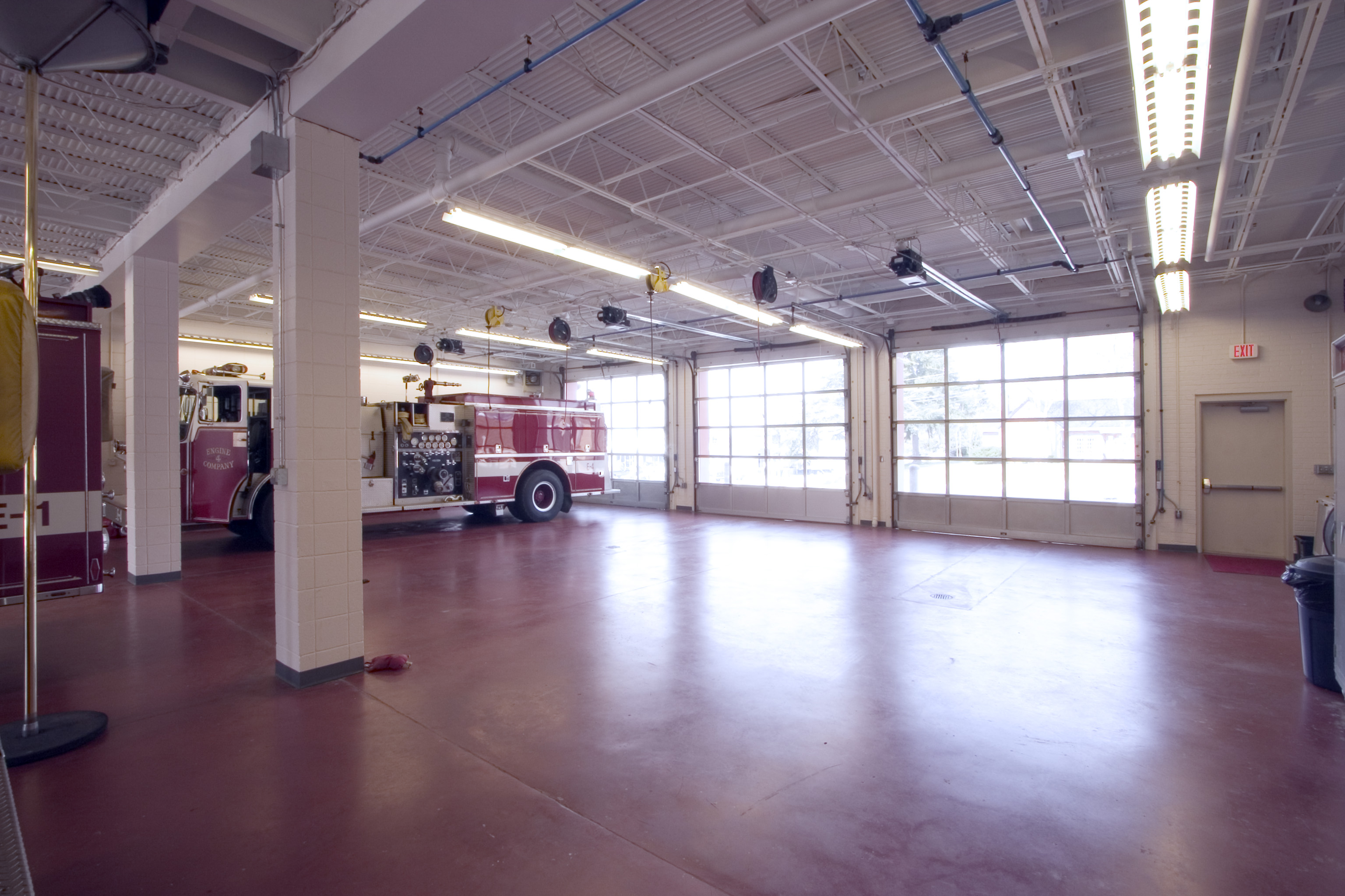 Open floor in fire station